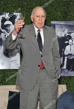 """OCTOBER 13: Honoree Carl Reiner onstage at the Academy of Television Arts & Sciences Presents: """"An Evening Honoring Carl Reiner"""" at the Leonard H. Goldenson Theatre on in North Hollywood, California"""