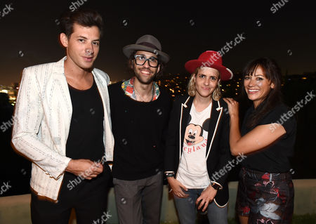 Stock Photo of Mark Ronson, from left, Alexander Dexter-Jones, Samantha Ronson and Rashida Jones attend Billboard & Jimmy Choo's Men of Style, in Los Angeles