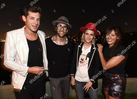 Stock Picture of Mark Ronson, from left, Alexander Dexter-Jones, Samantha Ronson and Rashida Jones attend Billboard & Jimmy Choo's Men of Style, in Los Angeles