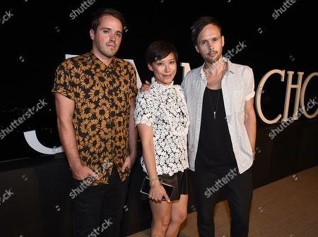 Michael Jeffery, from left, Sandra Choi, Jimmy Choo creative director, and Keith Jeffery attend Billboard & Jimmy Choo's Men of Style, in Los Angeles