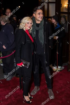 Susanne Shaw and Noel Sullivan pose for photographers upon arrival at the world premiere of the play 'The End Of Longing' in London