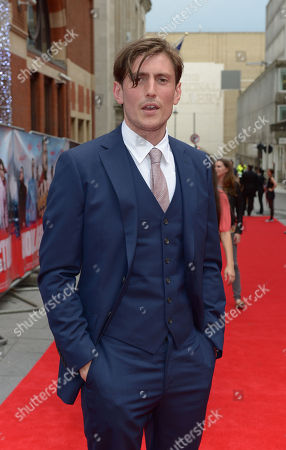 Morgan Watkins is seen at the premeir of The Hooligan Factory, at the Odeon West End in London on Monday June, 9, 2014