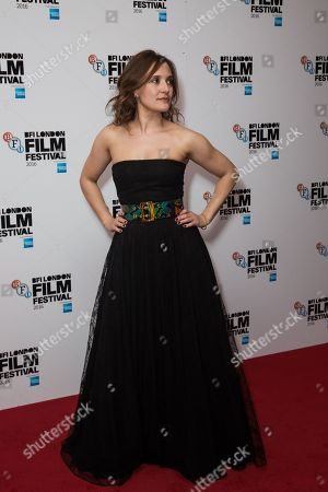 Actress Lyndsey Marshal poses for photographers on arrival at the premiere of the film 'Trespass Against Us', showing as part of the London Film Festival in London