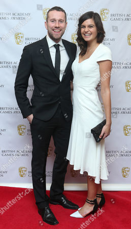 Max Rushden and girlfriend Jaime arrives for the 2013 British Academy Games Awards at the Hilton hotel in central London