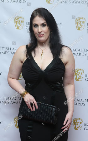 Rhianna Pratchett arrives for the 2013 British Academy Games Awards at the Hilton hotel in central London