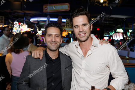 Director Jay Karas and David Walton seen at Broad Green Pictures Special Screening of 'Break Point' after party at TCL Chinese Theatre, in Hollywood, CA