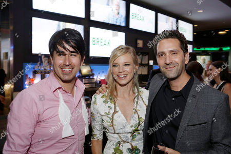 Daniel Hammond, Broad Green Pictures Chief Creative Officer, Amy Smart and Director Jay Karas seen at Broad Green Pictures Special Screening of 'Break Point' after party at TCL Chinese Theatre, in Hollywood, CA