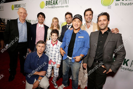 Stock Photo of J. K. Simmons, Daniel Hammond, Broad Green Pictures Chief Creative Officer, Chris Parnell, Amy Smart, Joshua Rush, Jeremy Sisto, Writer/Co-producer Gene Hong, David Walton and Director Jay Karas seen at Broad Green Pictures Special Screening of 'Break Point' at TCL Chinese Theatre, in Hollywood, CA
