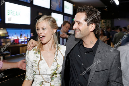 Stock Image of Amy Smart and Director Jay Karas seen at Broad Green Pictures Special Screening of 'Break Point' after party at TCL Chinese Theatre, in Hollywood, CA