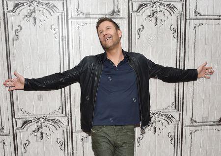 """Actor Michael Rosenbaum participates in the BUILD Speaker Series to discuss the television series """"Impastor"""" at AOL Studios, in New York"""