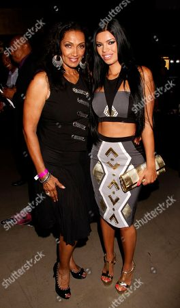 TV personality and author Katheleen Bradley and model Suelyn Medeiros seen at Chambored Vodka Goes Hollywood Hosted by Boris Kodjoe at Chinese 6 Theatre Ballroom in Hollywood, Calif