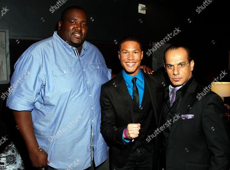 Actors Quinton Aaron and Najee De-Tiege seen at Chambored Vodka Goes Hollywood Hosted by Boris Kodjoe at Chinese 6 Theatre Ballroom in Hollywood, Calif