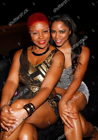 DJ Fyne and recording artist Shanica Knowles seen at Chambored Vodka Goes Hollywood Hosted by Boris Kodjoe at Chinese 6 Theatre Ballroom in Hollywood, Calif