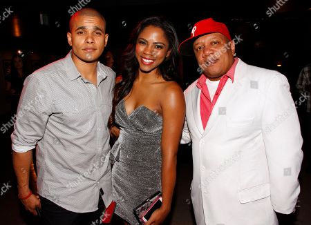 Actors and recording artist Jonathan 'Lil J' McDaniel, Shanica Knowles and manager Livio Harris seen at Chambored Vodka Goes Hollywood Hosted by Boris Kodjoe at Chinese 6 Theatre Ballroom in Hollywood, Calif