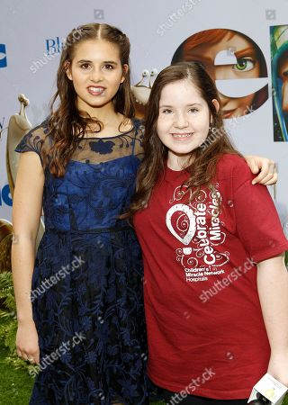Carly Rose Sonenclar poses with the Children's Miracle Network Hospitals ambassador, Kaitlin Clutter at the Epic Premiere, on in New York. The nonprofit is the official charitable partner of the film release