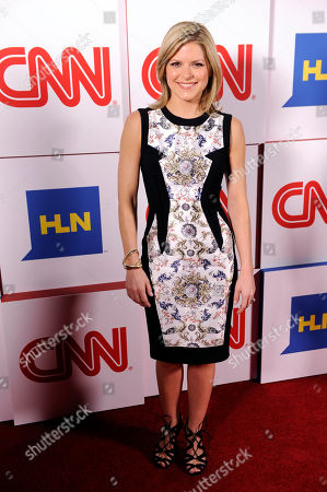 "Kate Bolduan of the CNN morning show ""New Day"" poses at the CNN Worldwide All-Star Party,, in Pasadena, Calif"