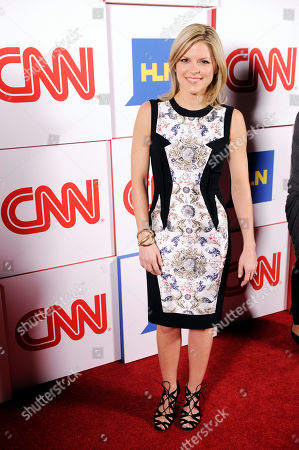 Kate Bolduan of CNN poses at the CNN Worldwide All-Star Party,, in Pasadena, Calif
