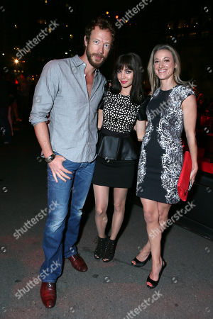 From left, Kris Holden-Ried, Ksenia Solo and Zoie Palmerseen attend Hyundai and Skybound's 'The Walking Dead' 10th Anniversary Celebration Event, on in San Diego, Calif
