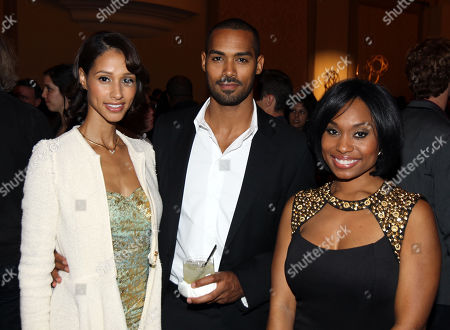 Lamon Archey, center, and guests attend Daytime Emmy Nominee Cocktail Reception in Beverly Hills, Calif., on