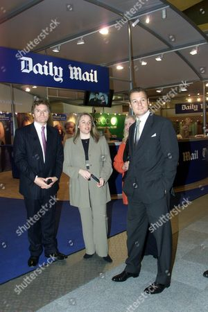 Lord Rothermere With Brenda Daly (vice President Of The Home Interest Sector Of Dmgt World Media)and Des Nichols (director Promotions) On The Daily Mail Stand At The Daily Mail Ideal Home Show (march 15 To April 8) At Earls Court.