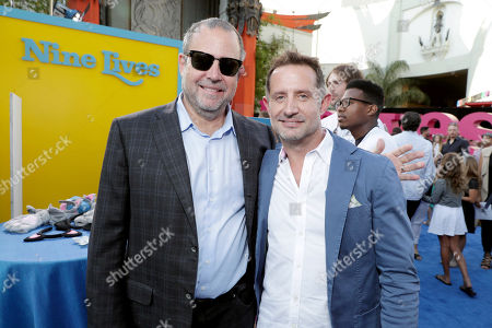 """Marc Shmuger, CEO, EuropaCorp, and Tommy Gargotta, President of Theatrical Marketing, EuropaCorp USA, seen at EuropaCorp Presents the World Premiere of """"Nine Lives"""" at TCL Chinese Theatre, in Los Angeles"""