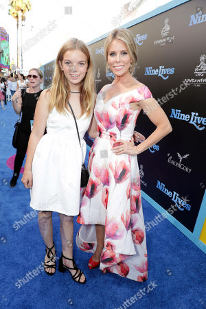 "Catherine Rose Young and Cheryl Hines seen at EuropaCorp Presents the World Premiere of ""Nine Lives"" at TCL Chinese Theatre, in Los Angeles"