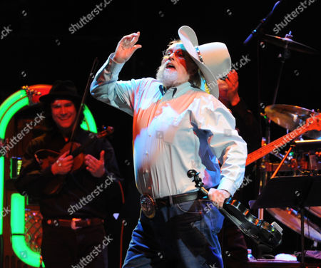Charlie Daniels looses his hat while he performs at the George Jones Tribute - Playin' Possum: The Final No Show, on at the Bridgestone Arena in Nashville, Tenn