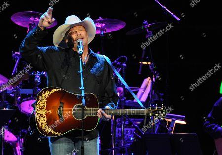 Alan Jackson performs at the George Jones Tribute - Playin' Possum: The Final No Show, on at the Bridgestone Arena in Nashville, Tenn