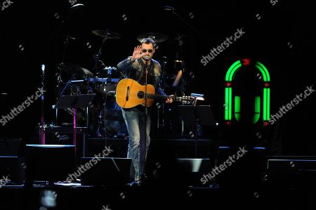 Eric Church performs at the George Jones Tribute - Playin' Possum: The Final No Show, on at the Bridgestone Arena in Nashville, Tenn