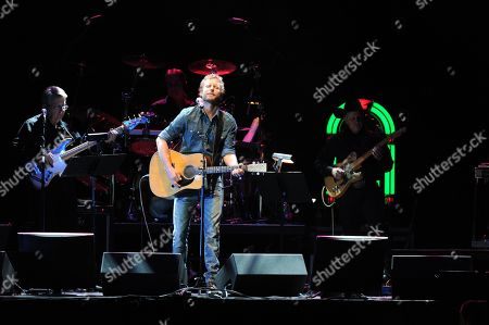 Dierks Bentley performs at the George Jones Tribute - Playin' Possum: The Final No Show, on at the Bridgestone Arena in Nashville, Tenn
