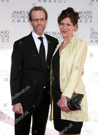 Stock Picture of Restauranteur Dan Barber, left, and his wife Aria Beth Sloss, right, arrive at the James Beard Foundation Awards Gala on in New York
