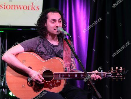 Singer-songwriter Keaton Simons visits radio station WISX Mix 106.1 iHeartradio Performance Theater, in Philadelphia