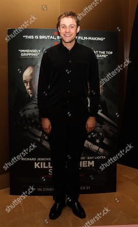 Thomas Howes is seen ahead of a press screening for upcoming film 'Killing Them Softly' at the Mayfair Hotel on in London, UK