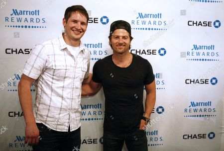 Kip Moore, right, and Ben Rue Perform Private Concert for Chase Marriott Rewards Card members at The Listening Room Cafe, on in Nashville