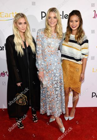 """Stock Image of Ashlee Simpson Ross, left, Jaime King, center, and Jamie Chung pose together at the premiere of the documentary film """"God vs. Trump: Only Love Wins,"""" at the TCL Chinese Theatre, in Los Angeles"""
