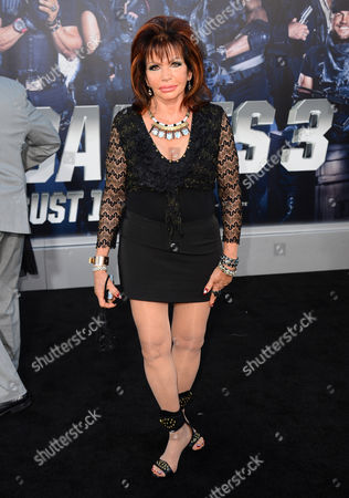 """Jackie Stallone arrives at the premiere of """"The Expendables 3"""" at TCL Chinese Theatre, in Los Angeles"""