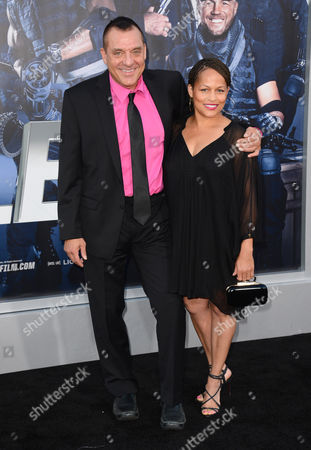 """Tom Sizemore, left, arrives at the premiere of """"The Expendables 3"""" at TCL Chinese Theatre, in Los Angeles"""