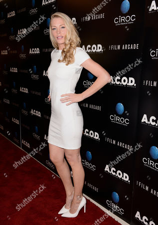 """Actress Cynthia Kirchner arrives on the red carpet at the premiere of the feature film """"A.C.O.D."""" at The Landmark Theatre on in Los Angeles"""