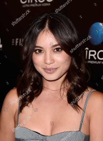 """Stock Picture of DJ Samantha Duenas arrives on the red carpet at the premiere of the feature film """"A.C.O.D."""" at The Landmark Theatre on in Los Angeles"""