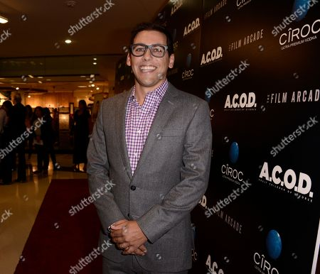 "Director Stu Zicherman arrives on the red carpet at the premiere of the feature film ""A.C.O.D."" at The Landmark Theatre on in Los Angeles"