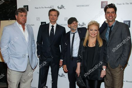"""From left, Tom Bernard, Co-President - Sony Pictures, and actors Colin Firth, Simon McBurney, Jackie Weaver, and Hamisih Linklater attend a special screening of """"Magic In The Moonlight"""" at the Pickford Center for Motion Picture Studio / Linwood Dunn Theatre, in Hollywood, Calif"""