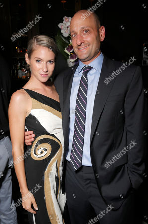 Laura Ramsey and Paradigm's Brad Schenck attend the after party for the premiere of 'Are You Here' Presented by Purity Vodka on in Hollywood, California