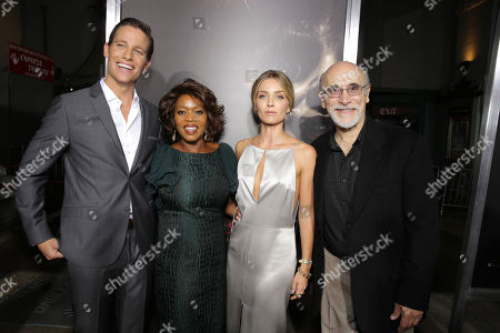 """Stock Picture of Ward Horton, Alfre Woodard, Annabelle Wallis and Tony Amendola seen at Los Angeles Special Screening of New Line Cinema's """"Annabelle"""", in Hollywood"""