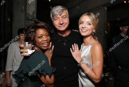 """Alfre Woodard, Director John R. Leonetti and Annabelle Wallis seen at Los Angeles Special Screening of New Line Cinema's """"Annabelle"""", in Hollywood"""