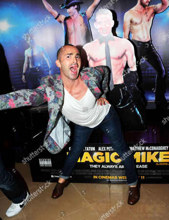 Louis Spence arrives at the Magic Mike Premiere at the Mayfair Hotel on in London