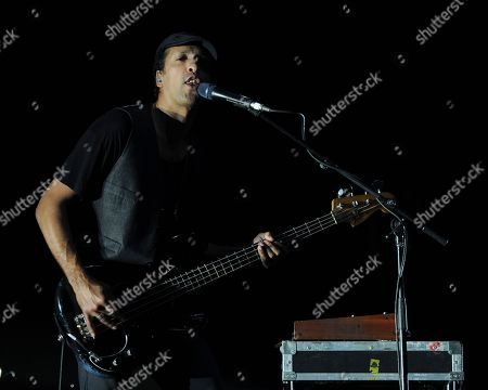 Joshua Winstead of Metric perform during The Self-Titled Tour at the BB&T Center on in Sunrise, Florida
