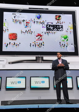 Reggie Fils-Aime, Nintendo of America's President and Chief Operating Officer, speaks onstage at the Nintendo All-Access Presentation @ E3, in Los Angeles