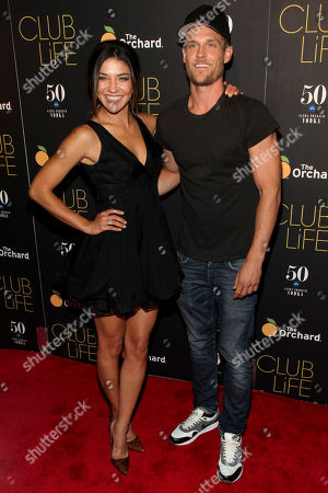 """Stock Picture of Jessica Szhor, left, and Ethan Russell, right, attend the premiere of """"Club Life"""" at Regal Cinemas Union Square, in New York"""