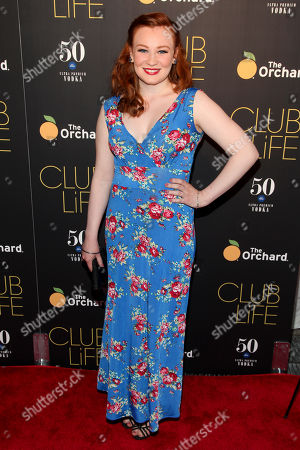 """Anne Clare Gibbons-Brown attends the premiere of """"Club Life"""" at Regal Cinemas Union Square, in New York"""