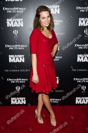 "Leslie Ann Glossner attends a screening of ""Delivery Man"" hosted by The Cinema Society and DreamWorks Pictures on in New York"